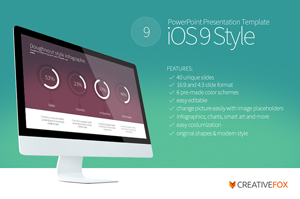 ios 9 style powerpoint template on behance