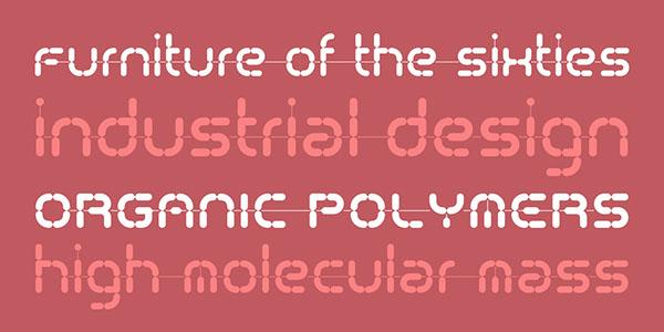 font 60's Typecult plastic