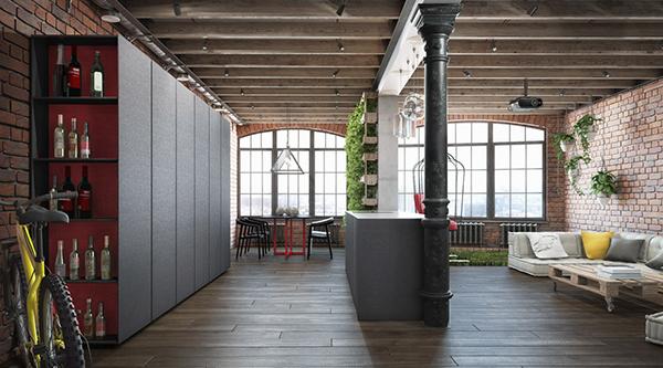 Loft by martinarchitects kiev on behance - Loft industriel martin architectes kiev ...