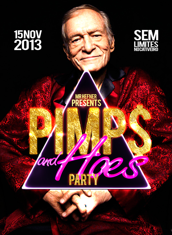 Pimp and hoes party flyer on behance