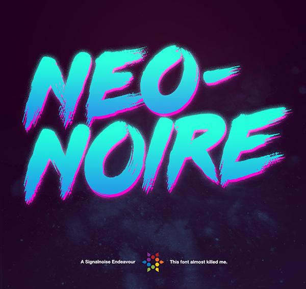 Neo-Noire Font On Behance