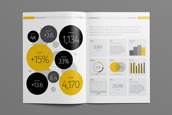 Annual Report Template | Annual Report Template On Behance