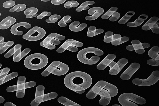 chezrump graphic type art black and white print letters form linear