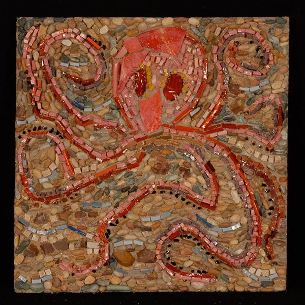 Craft Mosaics Fine Art Mosaic Concrete Mosaic Art Yard Art Handcast Paving Stone