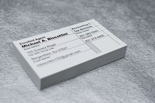 Accountant business card on behance reheart Image collections