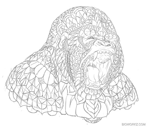 gorilla on behance