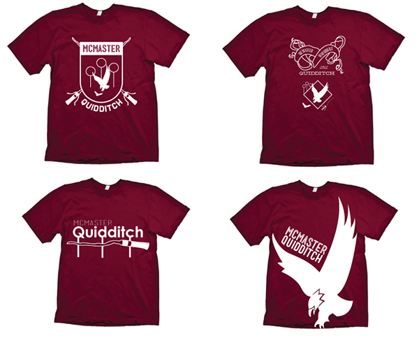 mcmaster quidditch team t shirt designs on behance