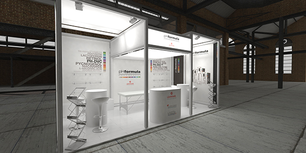Fabric Exhibition Stand Zone : Ph formula glenmark at sasds aesthetics trade show on behance