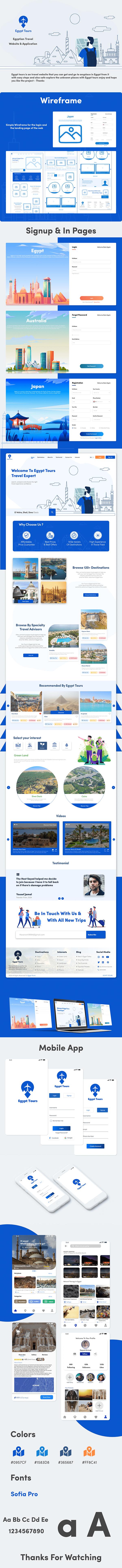 Egypt Tours | UI UX Web Design