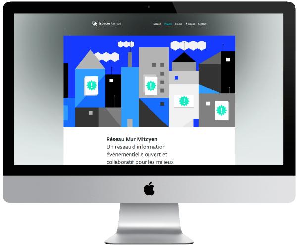 Adobe Portfolio Réseau mur mitoyen
