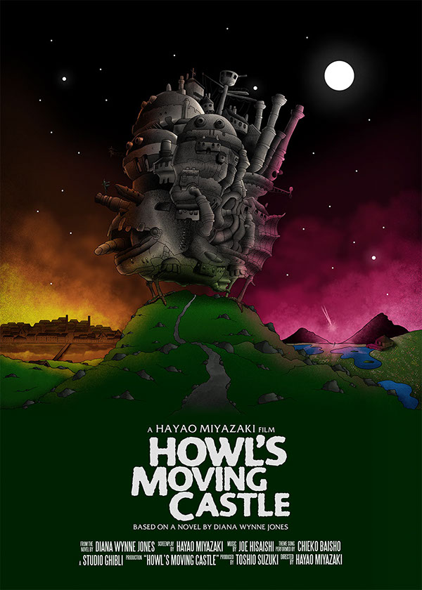 Studio Ghibli totoro Spirited Away Howls Castle posters miyazaki