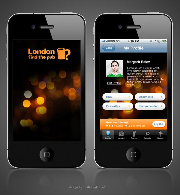 Iphone App Brand Design London Find The Pub On Behance
