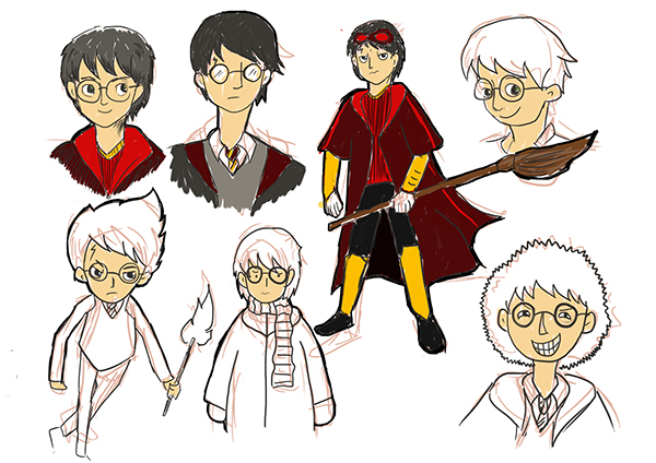 Harry Potter Cartoon S Characters On Behance