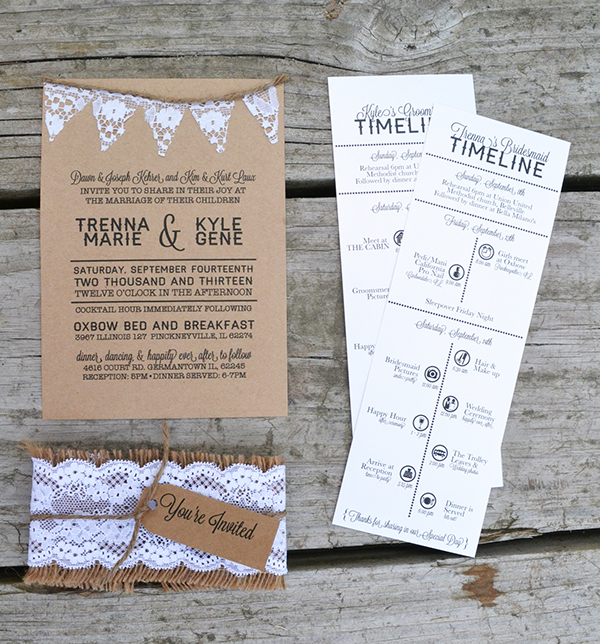 Wedding time line itinerary on behance junglespirit Images