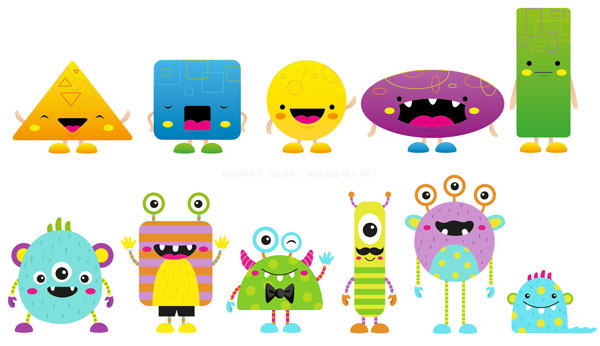 Character Design Shape Theory : Online game characters on behance