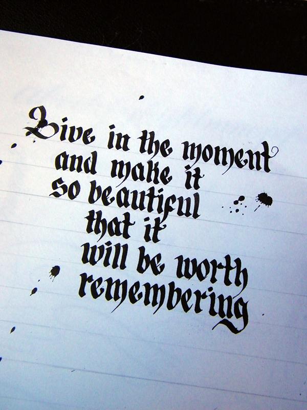Calligraphy custom lettering on behance
