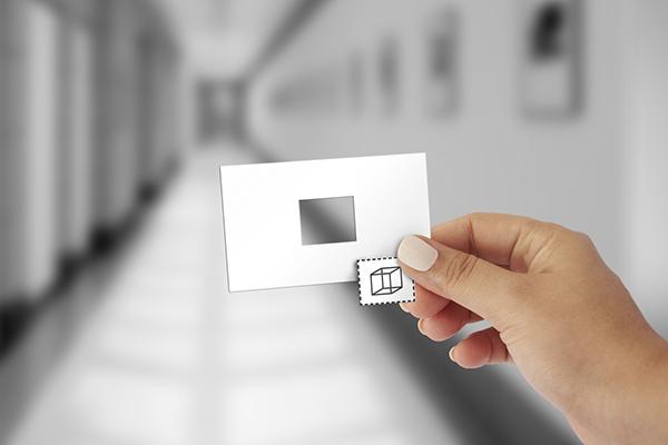 Branding design haus im haus house muesum clean black and white