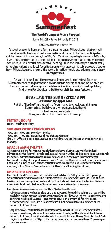 Milwaukee summerfest Layout