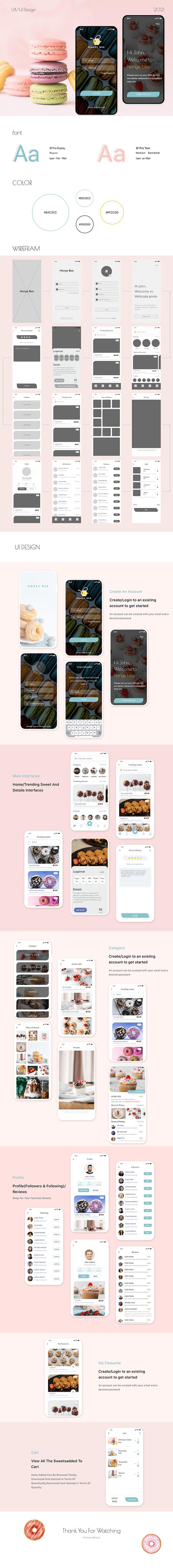 Honey bee app UI Design