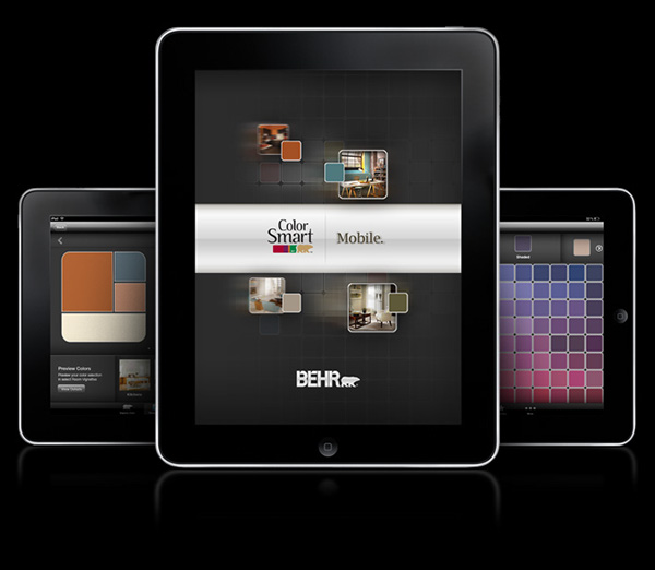 Behr colorsmart app on behance for Color coordinated apps