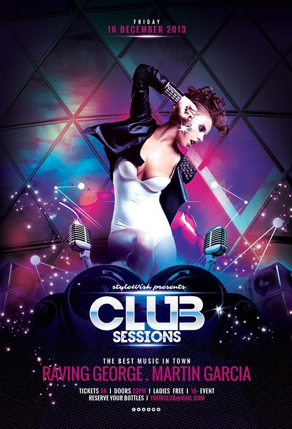 Club Sessions Flyer Template On Behance