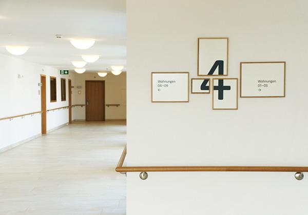 Signage frames Retirement Facility wood modular