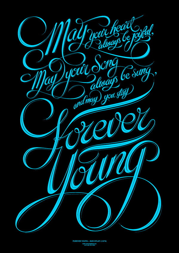 Forever Young – Bob Dylan (1974) on Behance