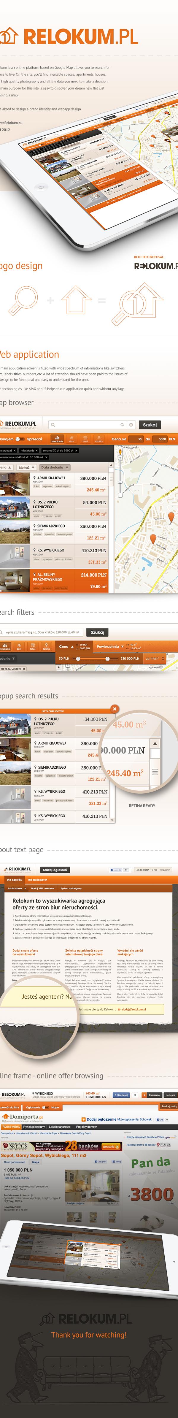 webapp UI ux Platform application rzmota relokum house apartment searching engine