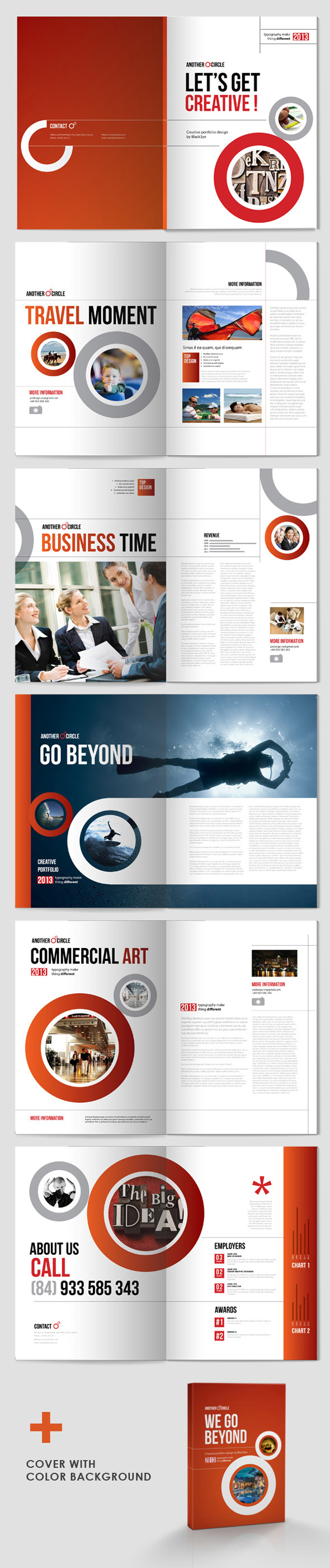 a4 ANNUAL report block book Booklet brochure business Catalogue circle clean concept corporate