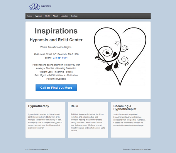 Inspirations Hypnosis Website