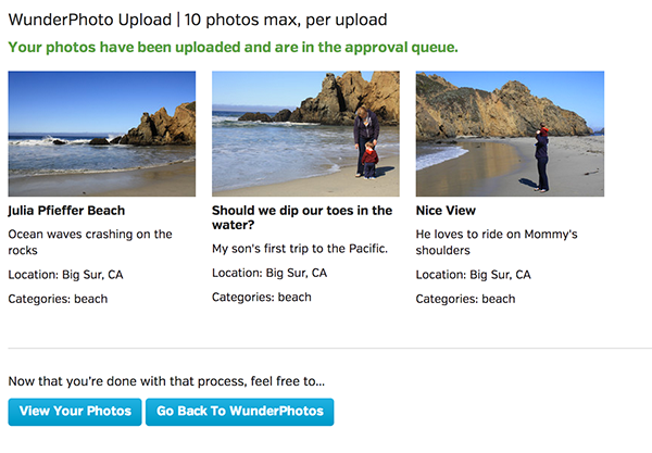 photos upload process community Responsive