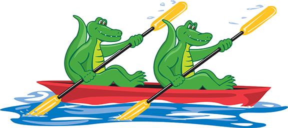 muscatine  Iowa alligator cartoon
