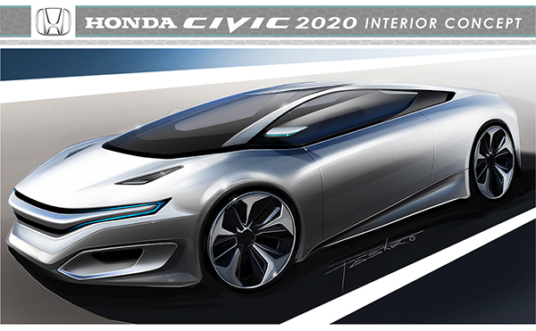 HONDA CIVIC 2020 INTERIOR CONCEPT on Behance