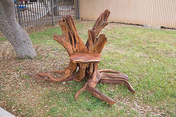 Creative Sitting Device: Cedar Stump Chair On Behance