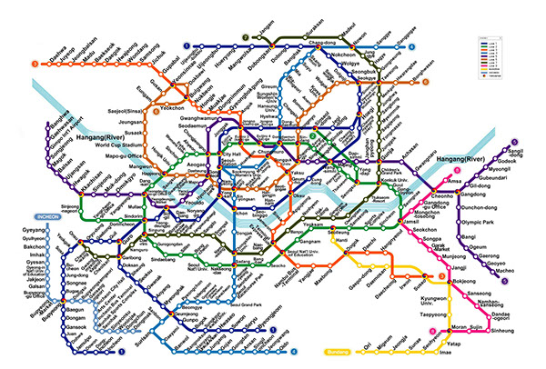 Korean Subway Map English.Seoul Subway System On Behance