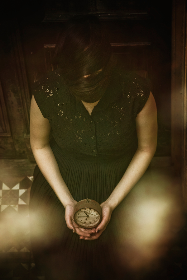 vintage  WOMAN time clock