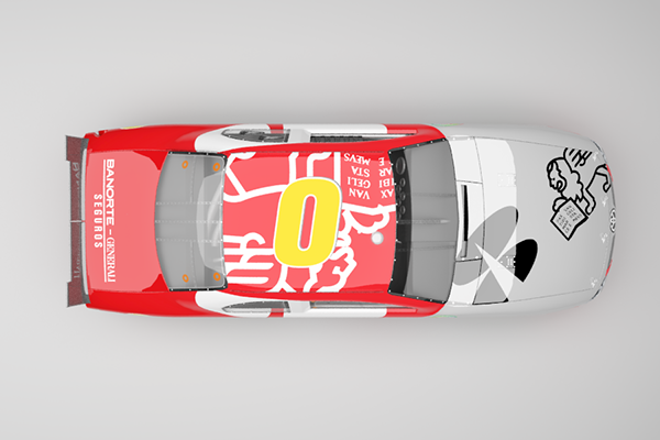 NASCAR México Livery Design #1 on Pantone Canvas Gallery Nascar Top View