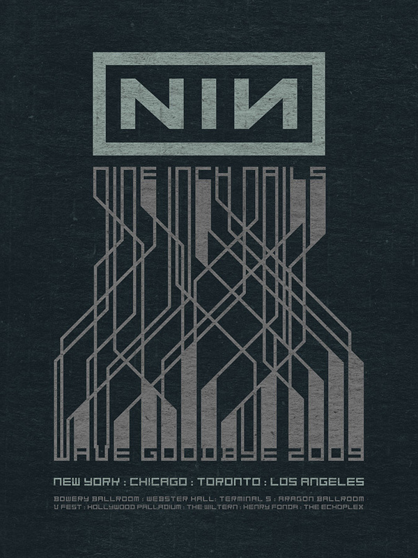 Nine Inch Nails concert posters, 2005-2009 on Behance