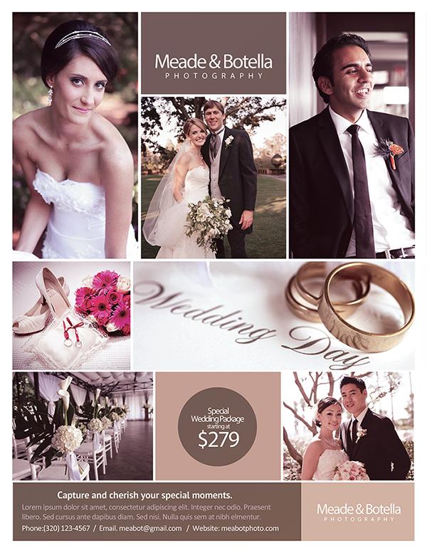 Wedding Photography Flyer On Behance