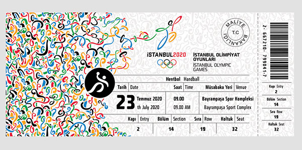Istanbul 2020 Olympic Games Ticket Design on Behance – Ticket Design
