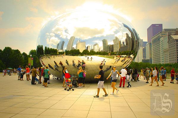 chicago bean skyline art