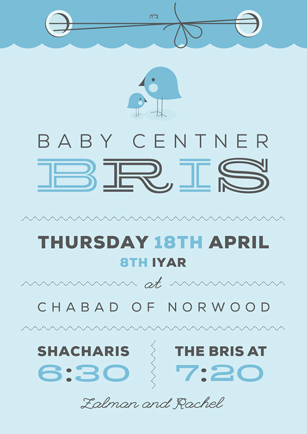 Bris announcement on Behance