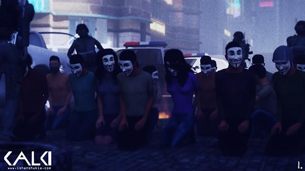 CG  animation  digital  short film  war  oil   MOLOTOV  Occupy  revolution God  mythology  economy vendetta future