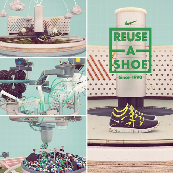 Nike Reuse a Shoe on Behance