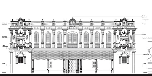 The Revive Chettinad Project on BehanceHouse Documentation   Elevation