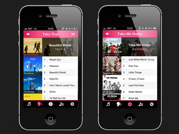 ios app Music Player UI GUI app design promotion video