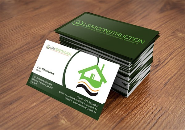 Lm construction business card design on pantone canvas gallery lm construction business card design reheart Choice Image