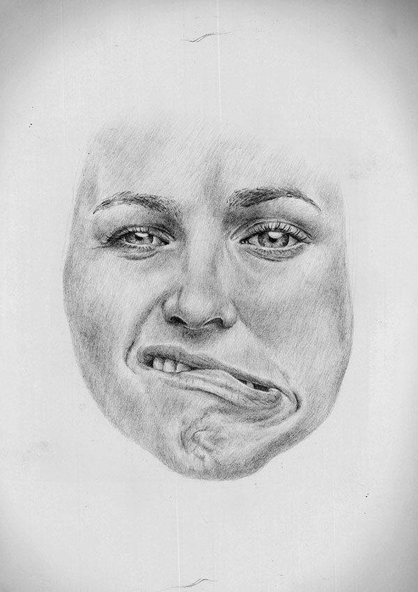 Friends making faces on Behance