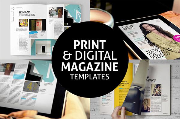 print digital magazine templates on behance. Black Bedroom Furniture Sets. Home Design Ideas
