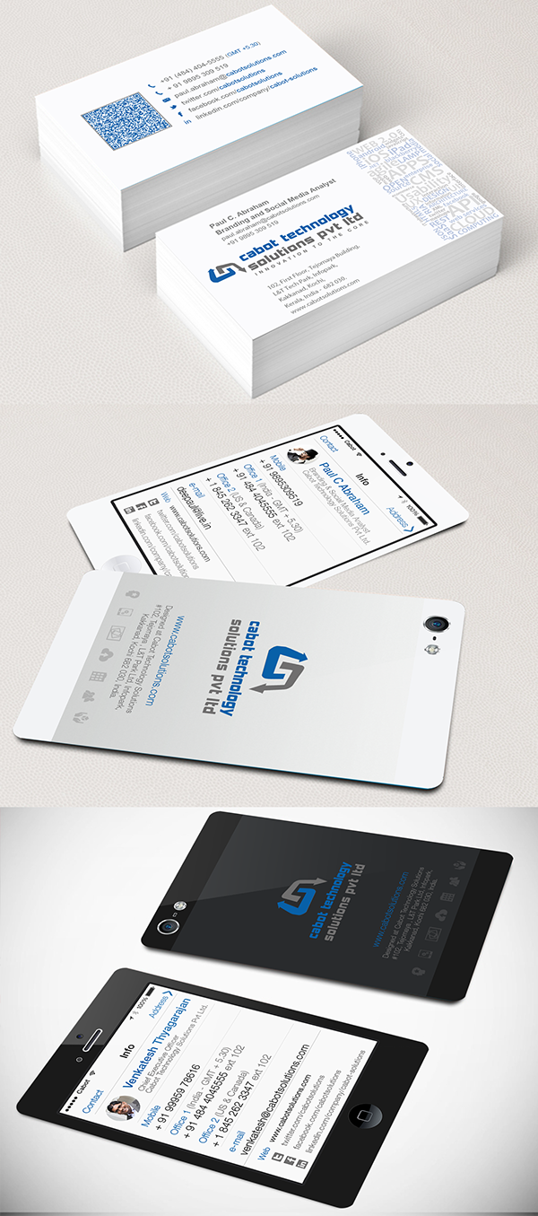 business card give away collectable